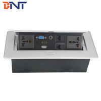 high quality zinc alloy material for conference desk table pop up power outlet