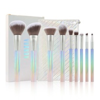 High Quality Showy Glitter Makeup Brush Set Branded