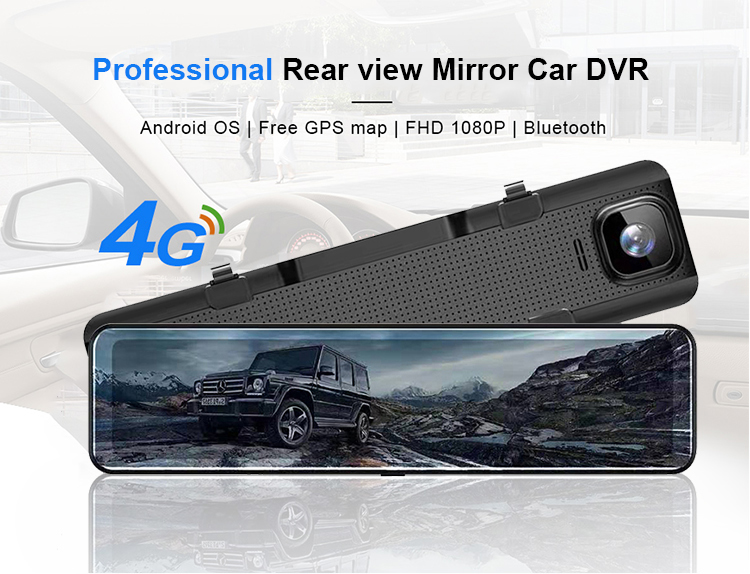 "Hawkeye 12"" ips rear view mirror car camera 4G GPS Navigation 2G RAM 16G ROM ADAS FHD 1080P dvr dash cam video recorder"