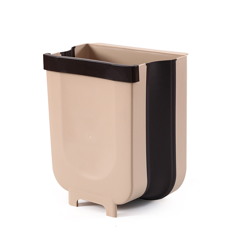 Amazon Hotsales Newest Collapsible Folding Trash Bin Can Attached to Cabinet Door Kitchen Drawer Bedroom Dorm Room Car Waste Bin