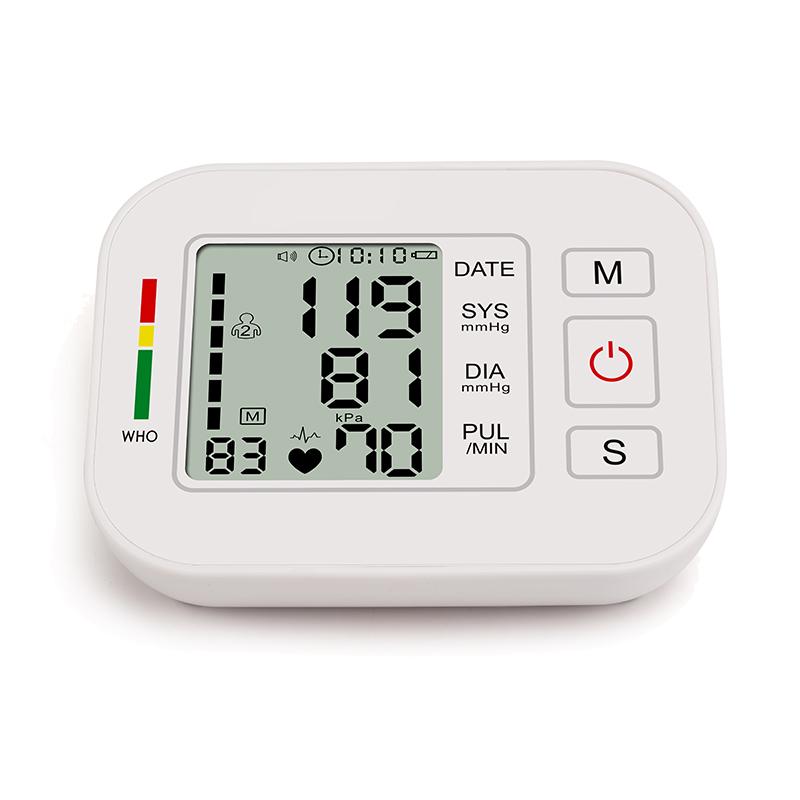 CE household home digital tensiometer screen printing digital blood pressure monitor