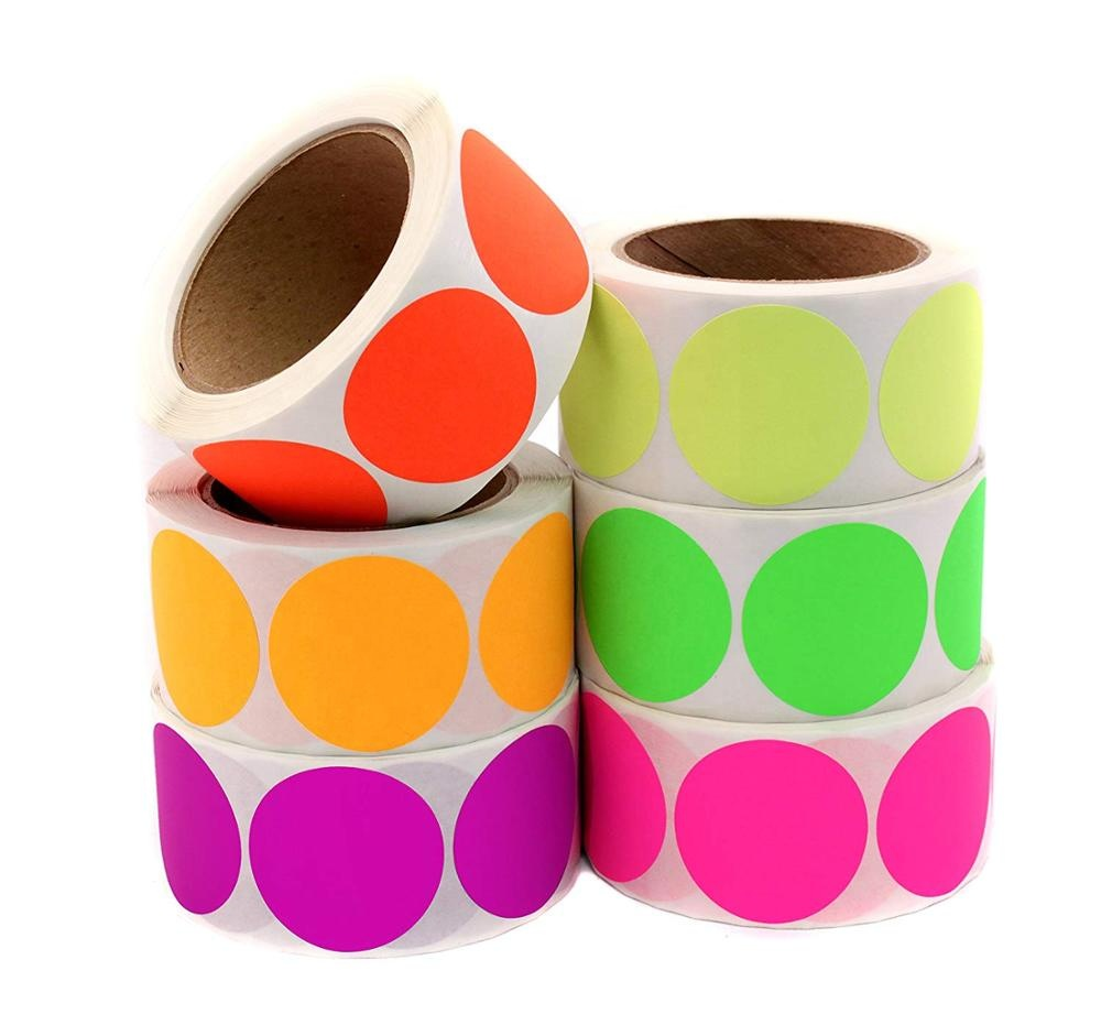 Fluorescent dot label paper stickers mark decorative stickers hand writing painted