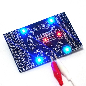 DIY Kit SMD Rotating Flashing LED Components Soldering Practice Board Skill Electronic Circuit Training Suite Electronic DIY Kit