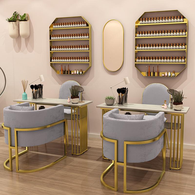 Cheap Price Modern Style Salon Furniture Metal nail manicure salon table