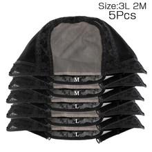 Alileader 4*4 U часть швейцарские кружевные человеческие волосы, черный парик с регулируемыми лямками, шиньон для изготовления комплекта, волнист...(Китай)