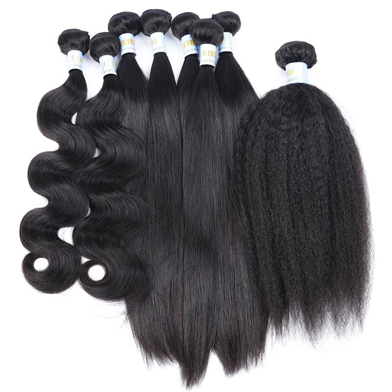 Unprocessed Mink Virgin Human 10A Grade Raw Brazilian Hair Bundles Vendor in China фото