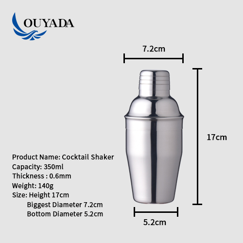 Factory Direct stainless steel bar tools mini 350ml cocktail design maker