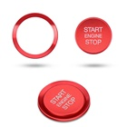 Car Accessories Button Car Interior Accessories Sticker Decoration Start Button Ignition Ring For VW