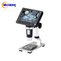 "4.3"" HD LCD screen 8 languages available Digital USB 8 LED real 2MP Electronic Microscope"