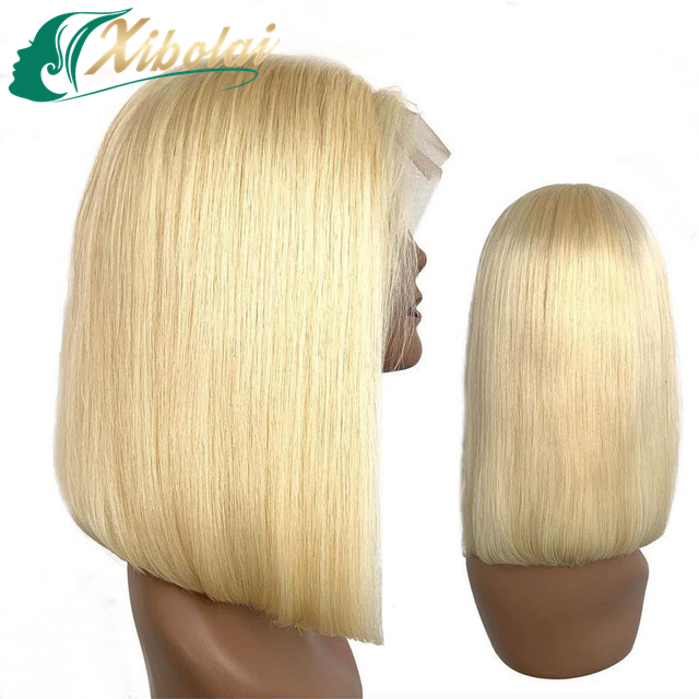 Xibolai cheap swiss lace brazilian human hair wigs,Wholesale price lace front wigs,color short human bob wigs for black women