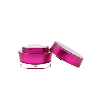 Factory sale 10g 15g 30g  skin care red double wall acrylic jar
