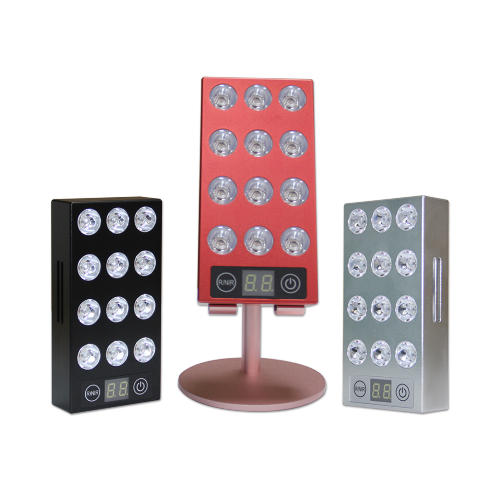 Portable Red led light therapy Device light therapy 3 colors Rechargeable handheld led light for skin care
