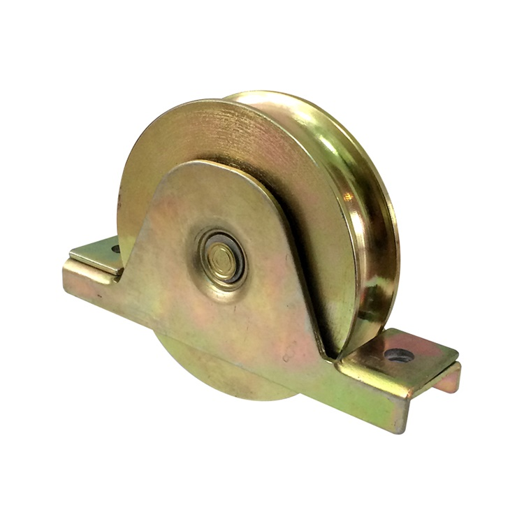 Super de septiembre de la muestra libre de la puerta corredera ranura rueda de hierro para la puerta