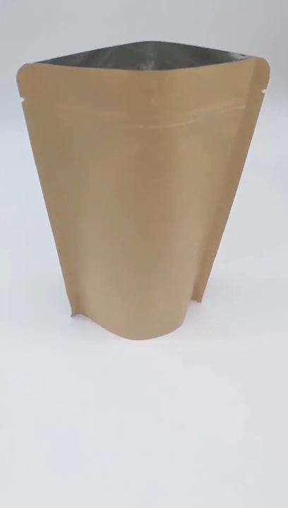 Stand Up Kraft Plastic Papieren Zak Voor Gedroogd Fruit/Snack/Moer/Koffie/Thee Verpakking Zak
