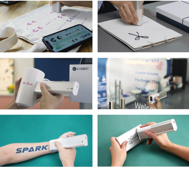 Mini printer portable printpen for android mobile phone bar label QR code logo tattoos printer printpen