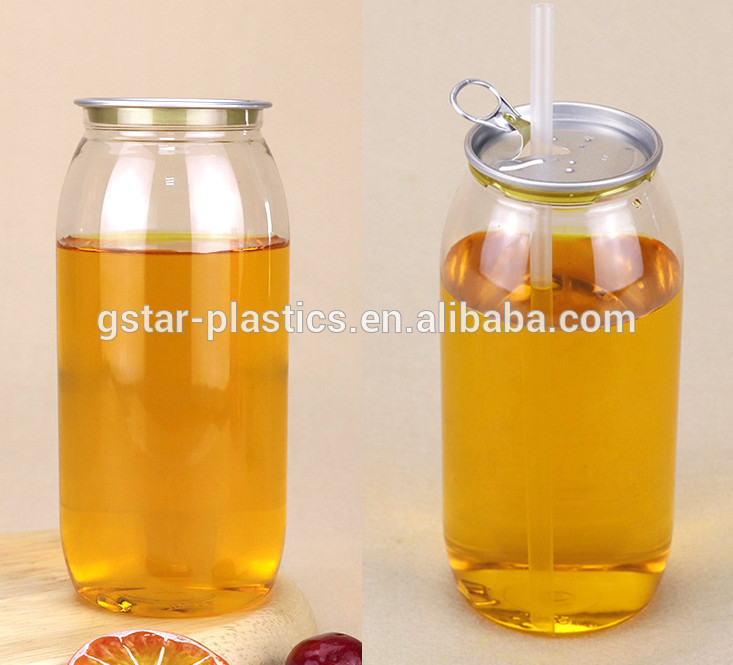 300ml/500ml/700ml PET Plastic Bottle for Juice Beverage Juice Plastic Bottles  custom Printed