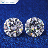 Forever VVS clealry 5mm 6.5mm 7mm 7.5mm 8mm 9.5mm round brilliant cut artificial diamonds moissanite