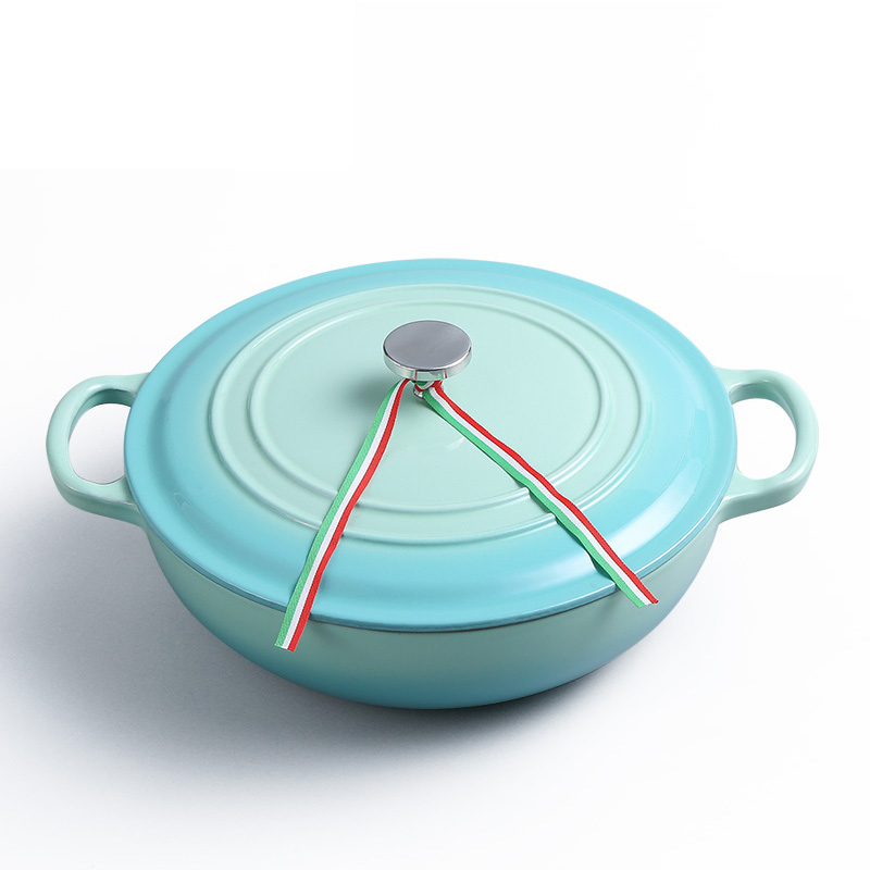 Hot sell Germany Japan Cast iron enameled covered shallow dutch oven