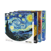 High Quality Oil Painting Custom 1000 Mini Piece Jigsaw Puzzle for Adult