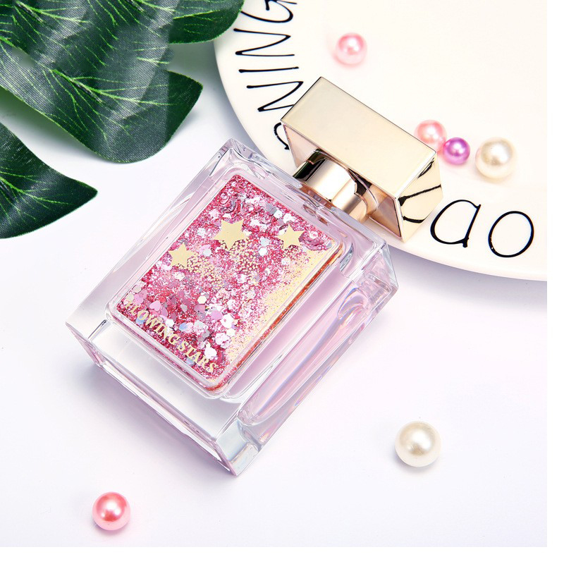 OEM shiny customized your logo pink glass high quality women perfume