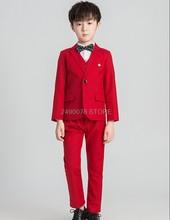 Торжественные костюмы для свадебной вечеринки для мальчиков 2020, детский Блейзер, жилет, рубашки, штаны, комплекты одежды, Детские платья для...(Китай)