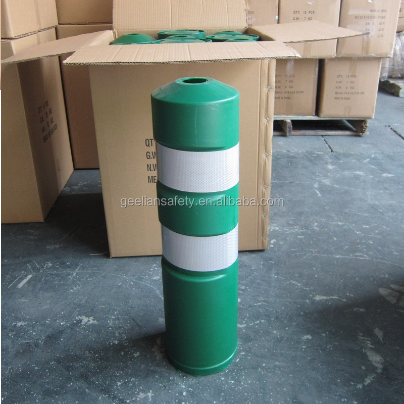 Plastic warning road safety flexible polyurethane bollard