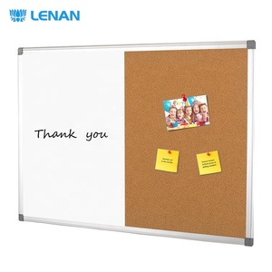 Popular Aluminum Frame Combination Boards Half Magnetic Dry Erase Whiteboard & Half Notice Cork Board for Message Decoration