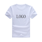 Wholesale Custom Printing Logo High Quality 100% Cotton Plain White Round Neck Basic Men T-Shirt