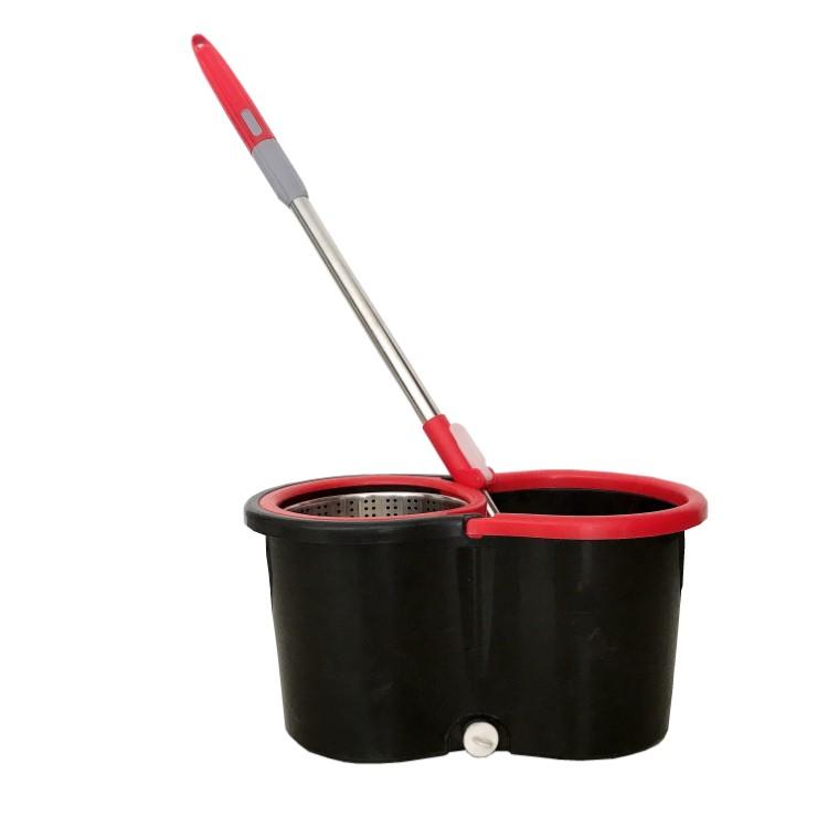 360 easy rolling spin magic mop floor hand free mop bucket set