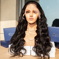 Neflyon best selling body wave wig raw wig full lace wigs Brazilian female 100 virgin human hair