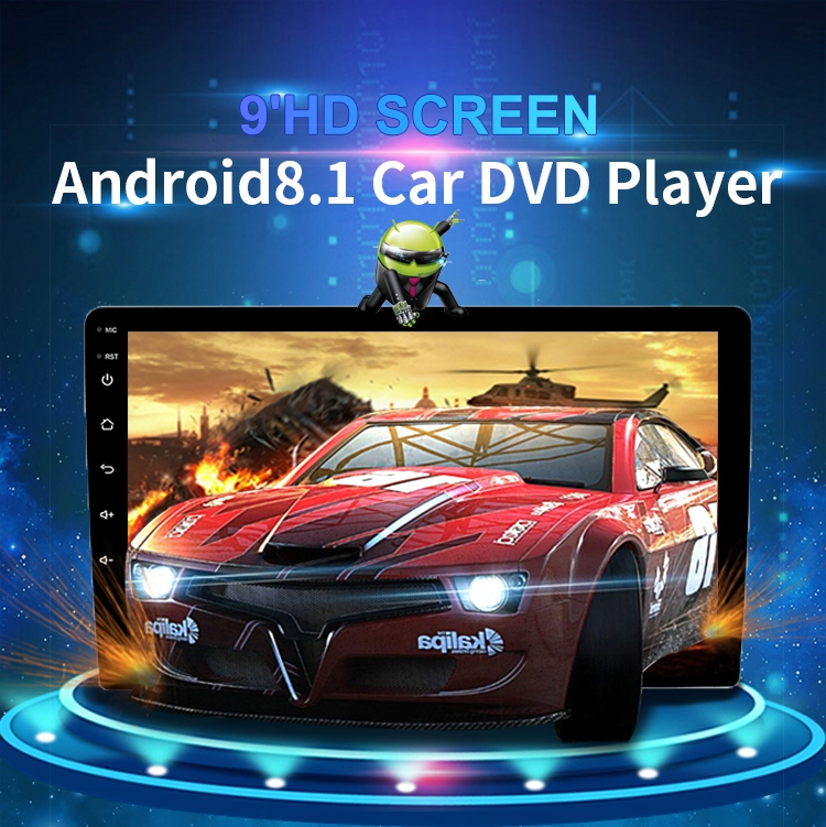 9 10 Inch Android 9.1 Universal Car Player 2 Din 1G RAM+16G ROM Android Car radio GPS NAVIGATION WIFI Rear CAM