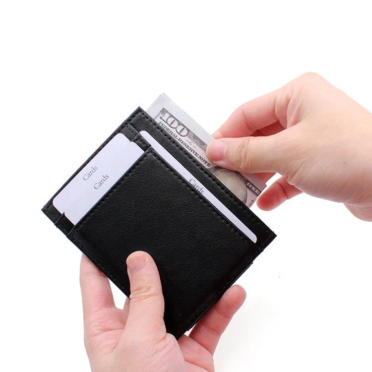 Hot Selling Slim Mens Wallet Designer Leather Card Case Wallet Rfid Blocking Card Holder Wallet For Man