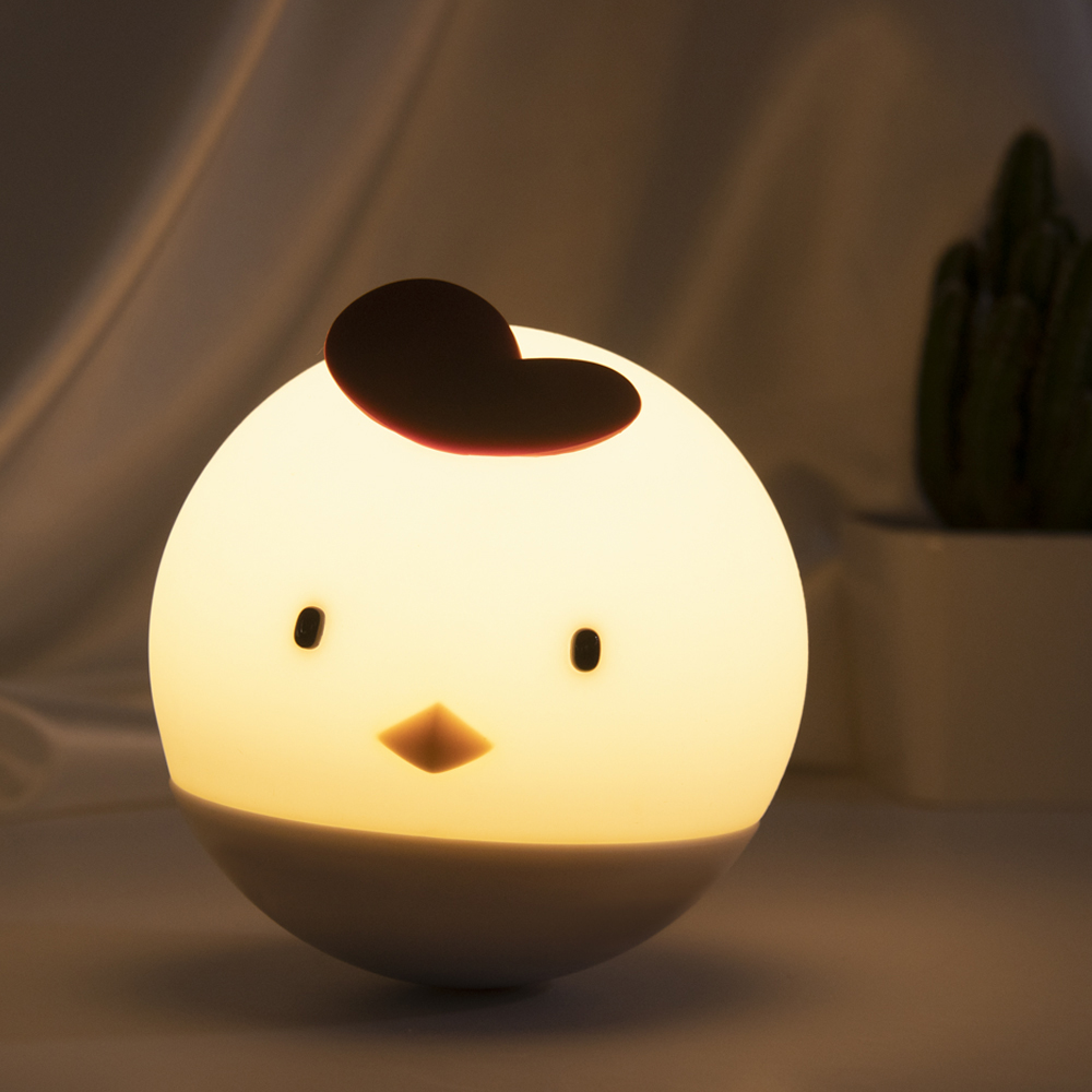 Accompany Sleep Stepless Dimming Rechargeable Silicone LED Night Light For Baby