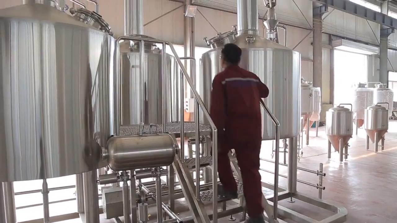 50% छूट 1000L बीयर पक मशीन उपकरण टर्नकी परियोजना