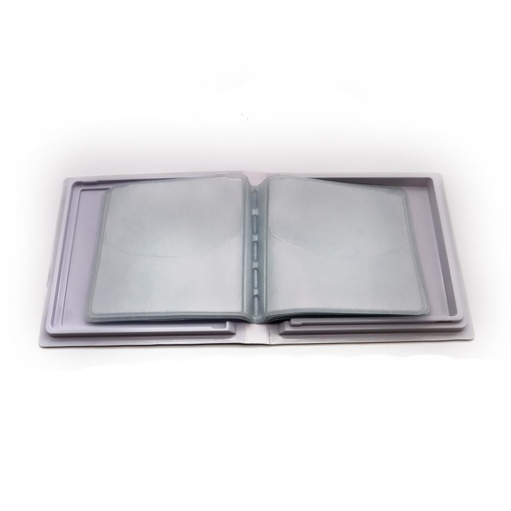 Professionele cd storage case cd tassen voor 12 Cd 'S, rechthoek cd cover case, beschermende film coating cd case