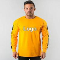 Trending Customization Product Sports Fitness Long Sleeve Men Fit Casual Bottoming Top Clothing