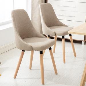 Cheap Wholesale Modern Design Wooden Furniture Luxury Dining Room Upholstered Linen Velvet Fabric Dinning Chair with Sponge