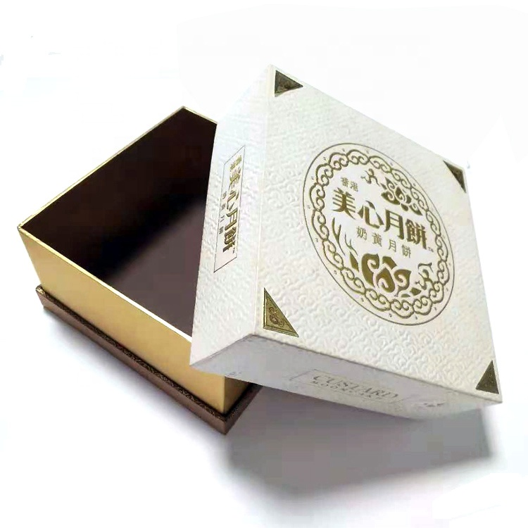 Custom Foil Stamping Cardboard Paper Packing Lid Base Candy Cookie Chocolate Gift Box