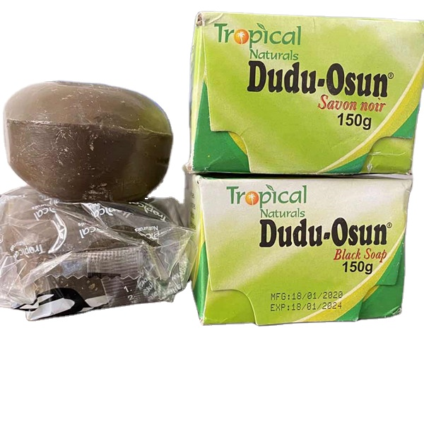 Pure Natural Ingredients Shea Butter Moisture Raw African Wholesale Herbal Dudu Osun Anti Bacterial Black Soap for Africa market