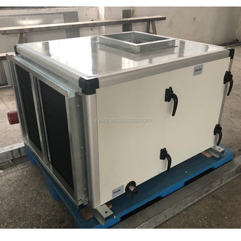 Marine fresh air make up units with vertical discharge connection
