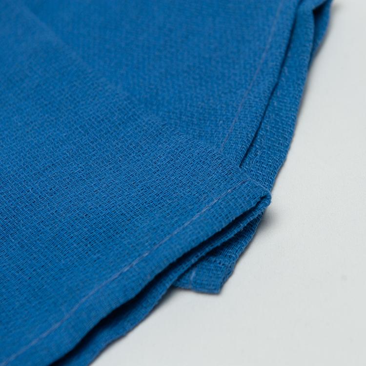 Blue 100% cotton disposable medical surgical hand towel wholesale