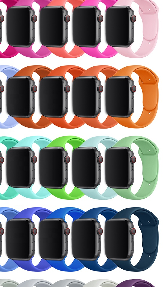 BOORUI Amazon Hot Sale Watch+ bands Silicone watch strap for apple watch band 30MM 40MM 42MM 44MM with S/M  and L/XL