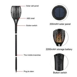 LED Street Outdoor Lighting Garden Path Yard Flickering Dancing Torches Flames Solar Lamp