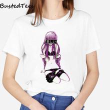 Популярные женские модные дизайнерские эстетические Японские футболки с 10 принтами, Летние Стильные повседневные мягкие белые топы с круг...(Китай)