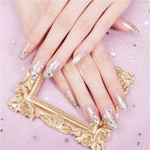2019 24 шт поддельные ногти клей съемный носимый полное покрытие Flase ногти Маникюр украшения(Китай)
