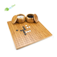 YumuQ Solid Reversible Bamboo Wooden Go Game Set with Bamboo Go Game Board