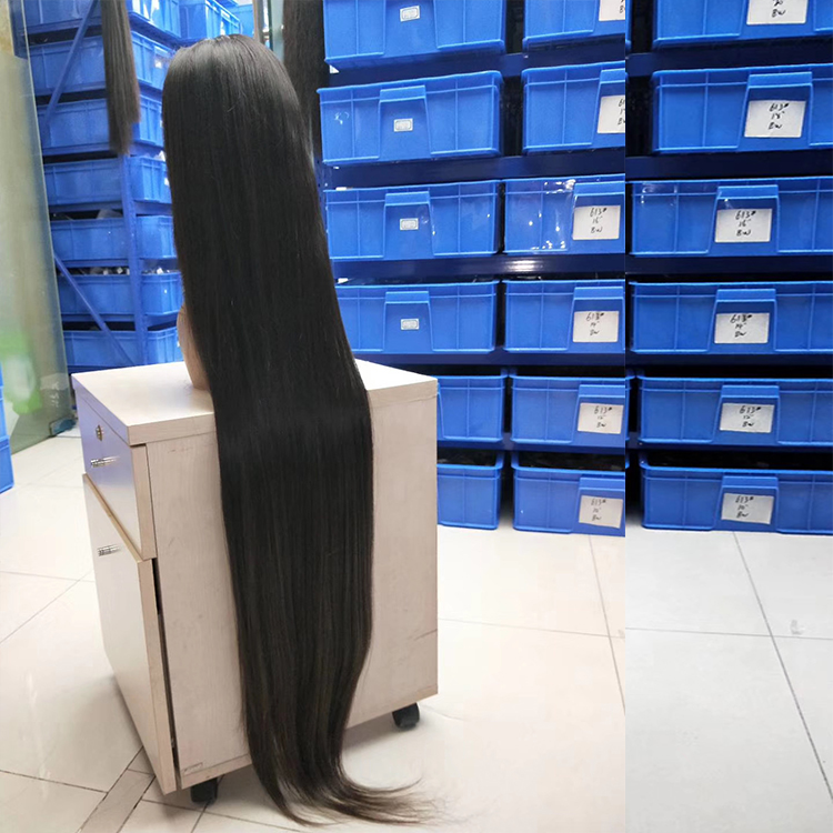 Custom Double Drawn 40inch Glueless Lace Closure Wigs 613 Blonde Cuticle Aligned Long Full Lace Frontal 30 Inch Human Hair Wigs