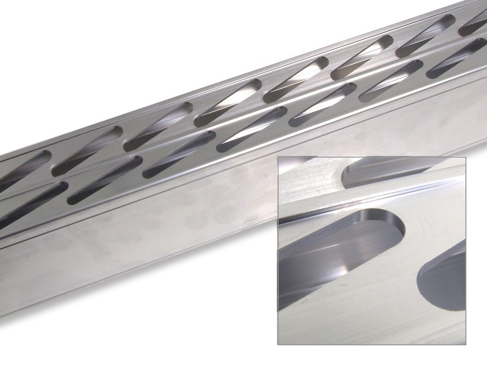 Customized Industrial 6063 Aluminium Extruded Profile With Milling / Drilling machining