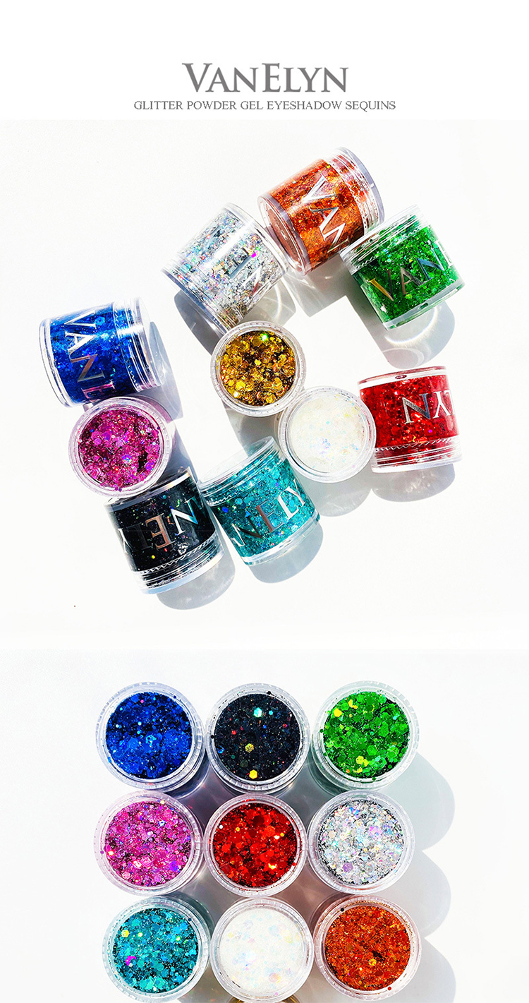 Custom Private Label Makeup Shimmering Single glitter Eye Shadow