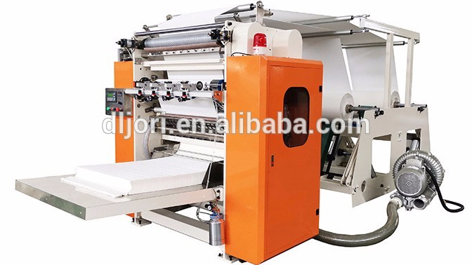Cost of 4 Lines V-fold Facial Tissue Paper Folding Machine Price